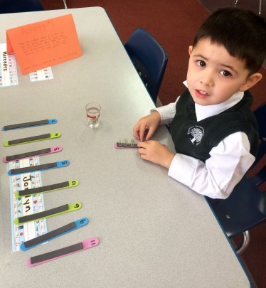Using our Montessori methods to consolidate learning