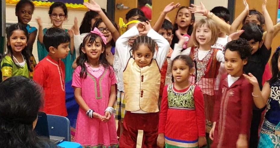 International Day, Children Singing