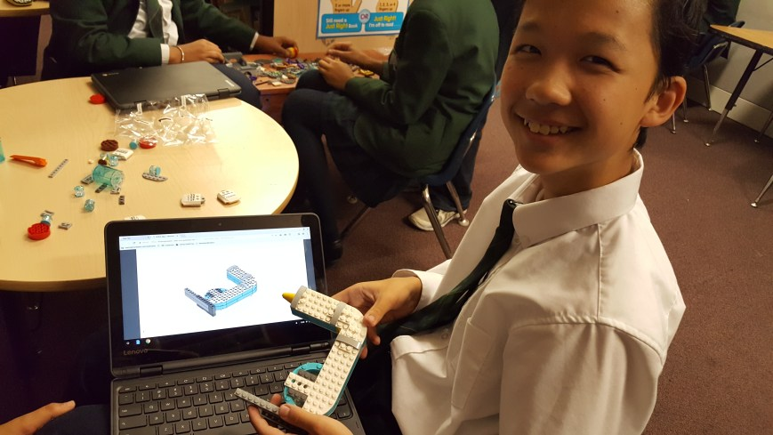 Student showcasing Robotics at Open House at Top Private School In Brampton
