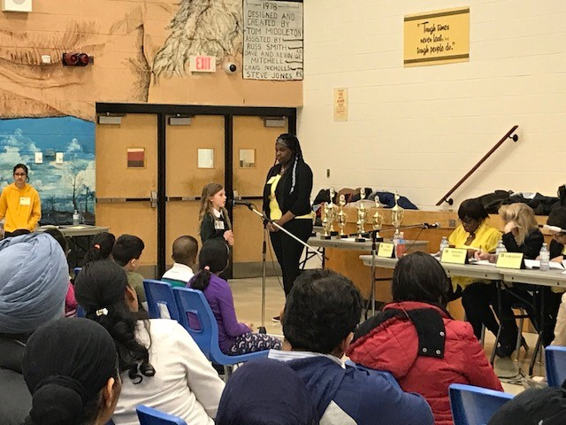RMS Private School student in Brampton at spelling bee competition
