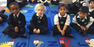Kindergarten Montessori schools learning about letter sounds at Rowntree Montessori Schools private school in Brampton
