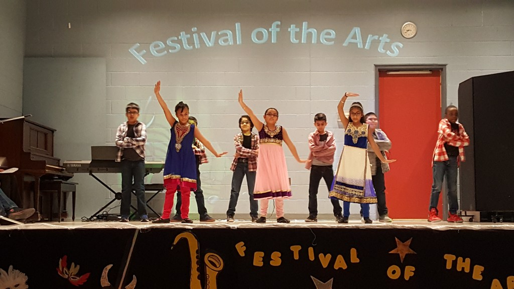 Students at Festival of the Arts at RMS Private School Brampton