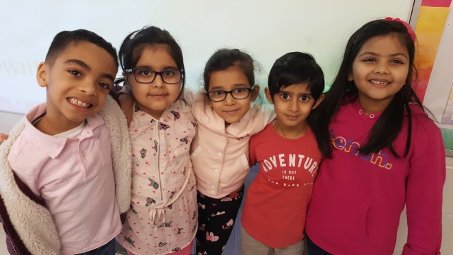Stuents from Rowntree Montessori Schools wearing pink on Pink Day to make peoiple aware of the need to stop bullying in schools