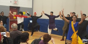 Students dancing at International Day at RMS