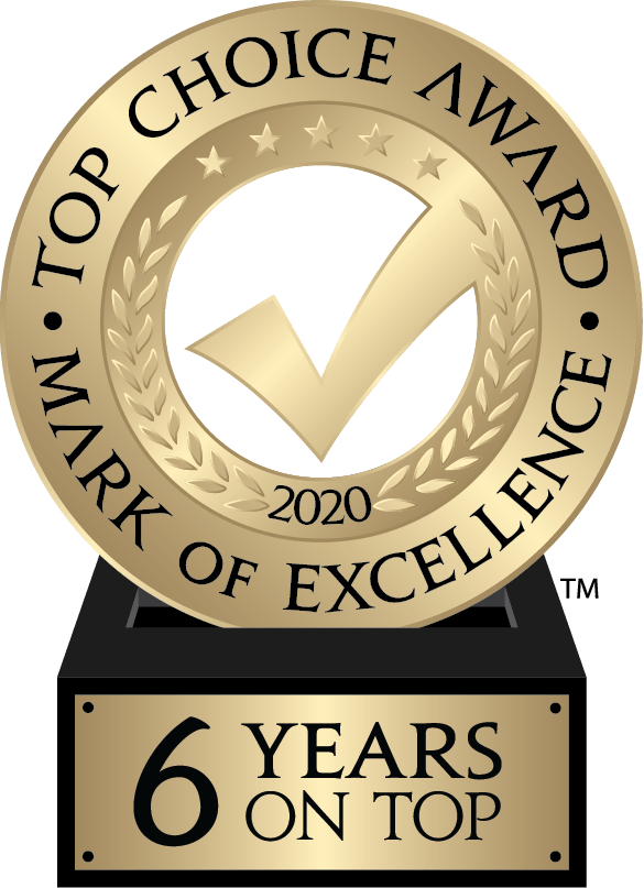 Top Choice Award 2020 logo - 6 years on Top