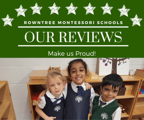 An image with three Kindergarten Montessori students