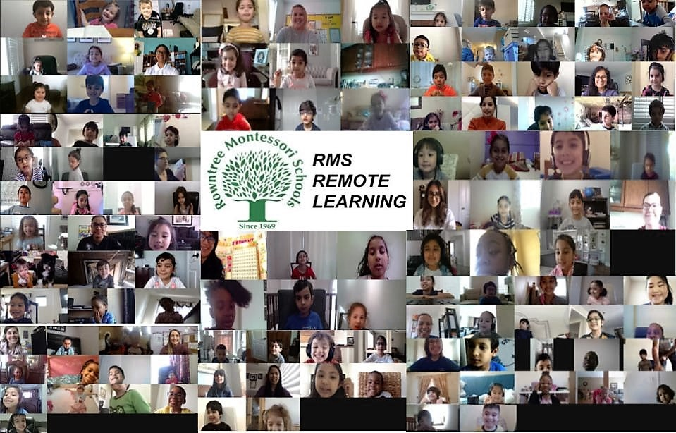 A collage of Kindergarten students during RMS' remote learning programme