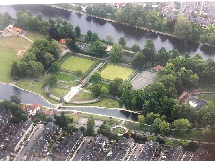 Rowntree Park Ariel View