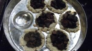 baked pork fig tartlet