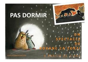 """Affiche de """"Pas Dormir"""", par Ludwine Deblon"""