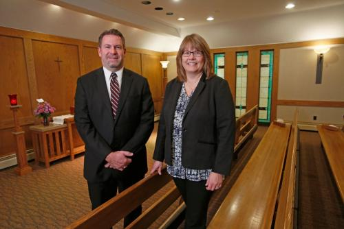 Marty Baumgartner is a funeral director and Sonja Kjar is a grief support coordinator at Boulger Funeral Home in Fargo. David Samson / The Forum