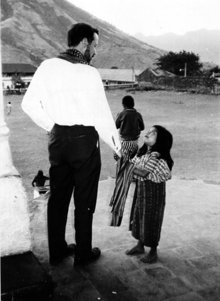 Fr Rother and little girl