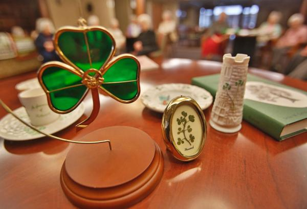 Decorative ornaments from Ireland are displayed at the Sacred Heart Convent in south Fargo. David Samson / The Forum
