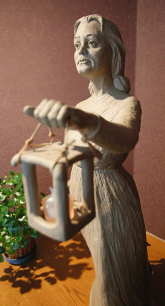 """A sculpture of Honora """"Nano"""" Nagle who founded the Sisters of the Presentation in Ireland is displayed at the Sacred Heart Convent in south Fargo. David Samson / The Forum"""