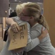 Free Hugs Campaign at LAX
