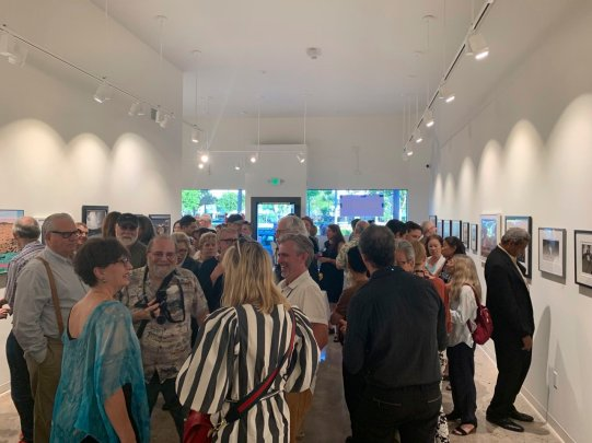 photo of art opening at dnj Gallery