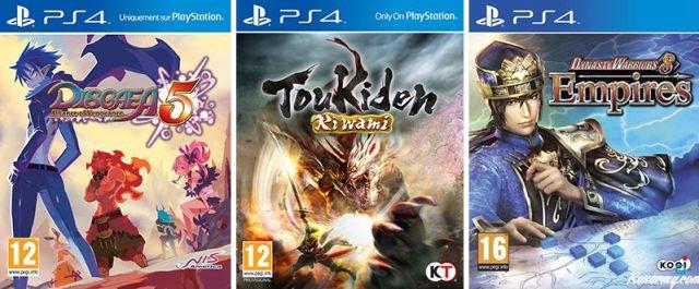 3 jeux PS4 Spécial Japon