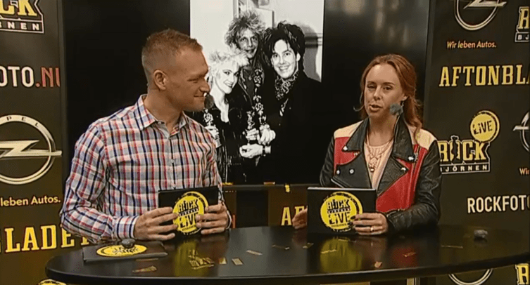 Besides mentioning Roxette and Gyllene Tider several times during the gala, there were many Rockbjörnen historical pics shown on a background screen. This one as well.