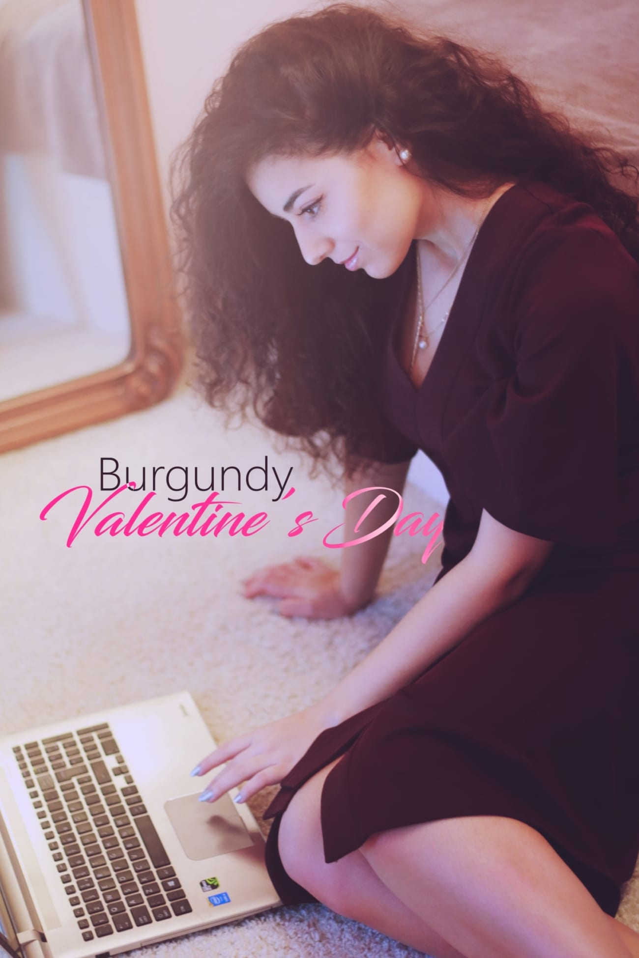 blogger roxi rose rochie visinie dama burgundy dress womanfashion.ro calitate quality material