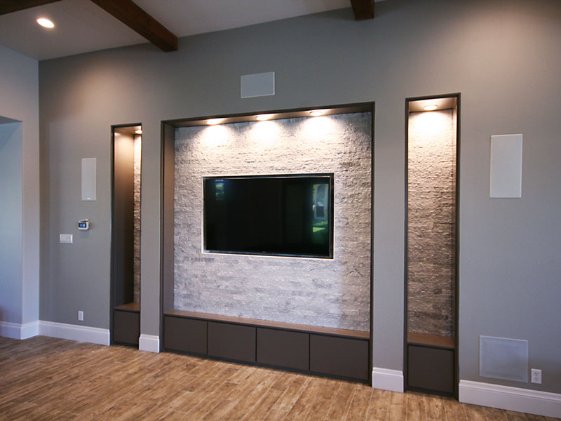 TV Niche Roxton Custom Home Remodeling