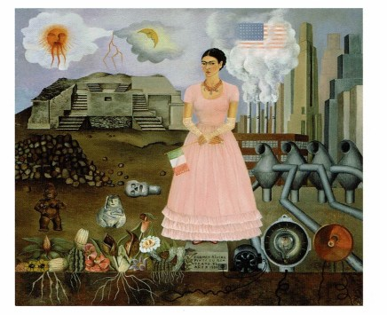 Self-Portrait on the Borderline between Mexico and the United States, Frida Kahlo