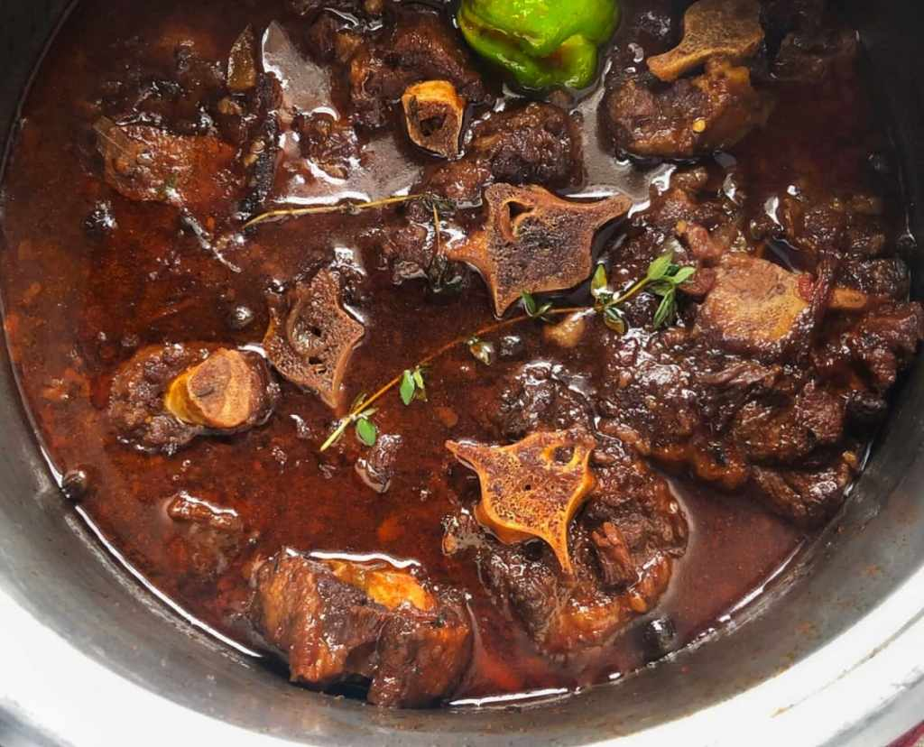 Oxtail and beans