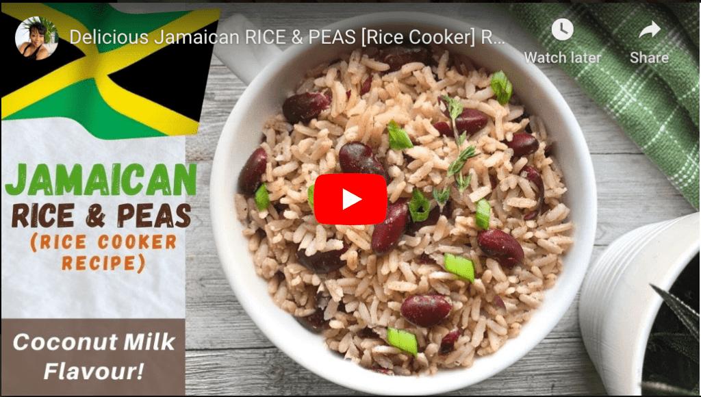 Jamaican Rice & Peas YouTube Recipe by RoxyChowDown.com