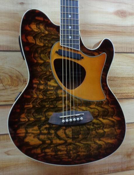 Ibanez Talman Tcm50 Acoustic Electric Guitar Vintage Brown