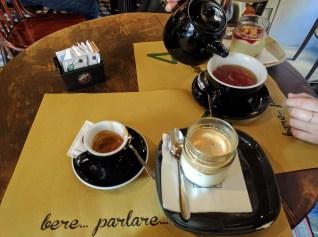 tiramisu and espresso