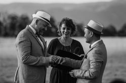 Same sex ceremony at Spicers Peak Lodge