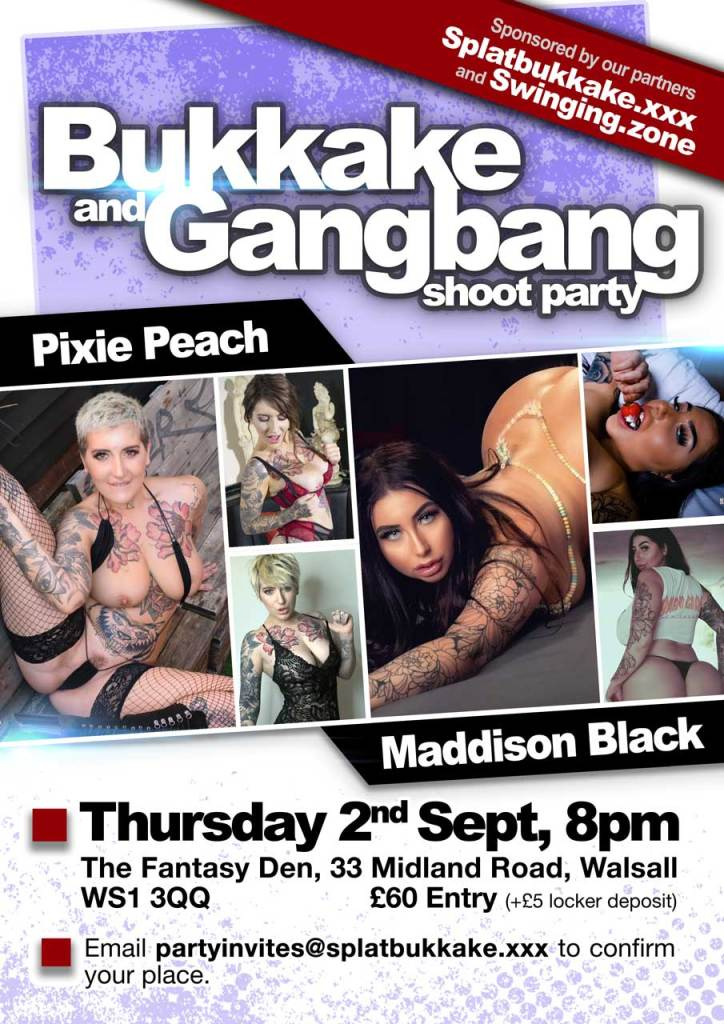 2nd September gangbang with Pixie Peach and Maddison Black