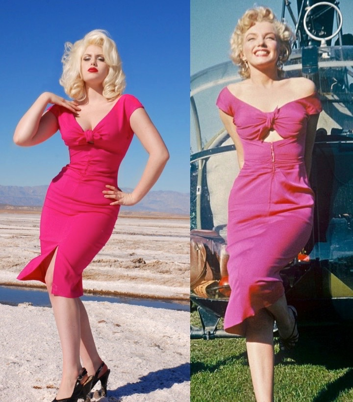 Image result for marilyn monroe in pink dress