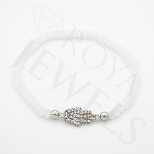 Evil Eye Heart Bracelet White Cubic Zirconia