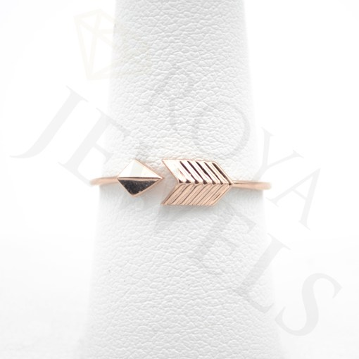 Adjustable Arrow Ring Rose Gold Roya Jewels