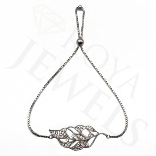 Leaf Bracelet Necklace Silver Leaf Roya Jewels
