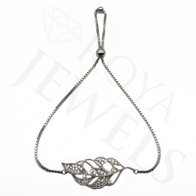 Leaf Bracelet Necklace Silver Leaf Roya Jewels