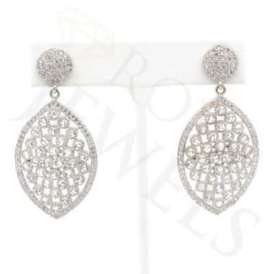 Marquise Drop Earrings Earr Silver Roya Jewels