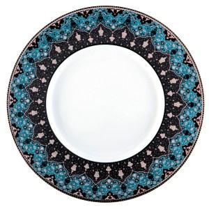 Assiette de présentation - Dhara bleu
