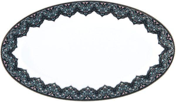Plat ovale - Dhara bleu