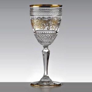 Verre à vin rouge Séville Nora Or - Cristal de Paris