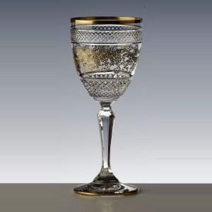 Verre à vin blanc Séville Nora Or - Cristal de Paris