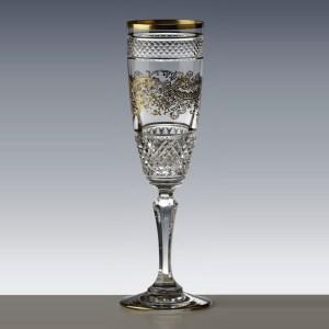 Flute à champagne Séville Nora Or - Cristal de Paris