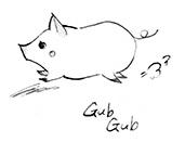ドリトル先生, アフリカゆき, Doctor Dolittle, Gub-Gub, pig, 子ブタ, 動物, animals