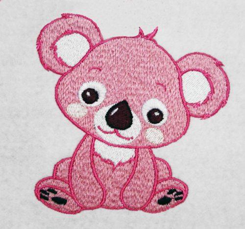 Дизайн для машинной вышивки Мишка коала
