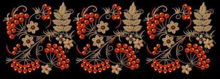 Золотой орнамент для вышивки 484