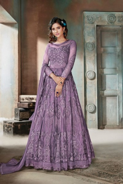 enigmatic-purple-color-heavy-net-embroidery-diamond-work-anarkali-suit