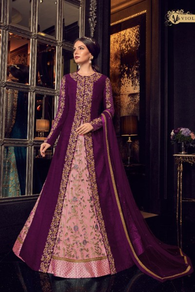 violet-color-heavy-net-with-embroidery-work-anarkali-suit-with-designer-koti