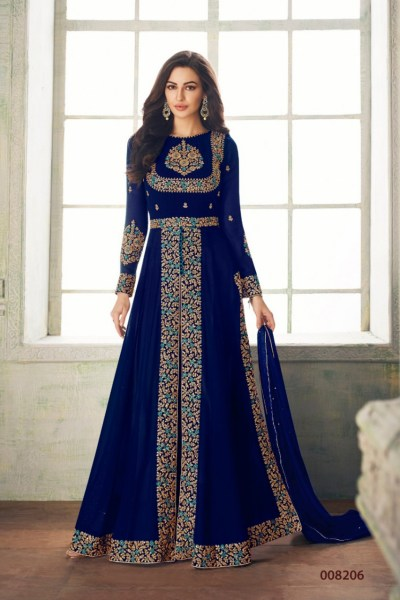 ceremonial-blue-color-heavy-georgette-embroidery-work-long-length-suit