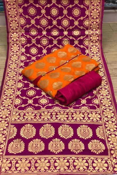 orange-color-heavy-banarasi-festival-wear-dress-material