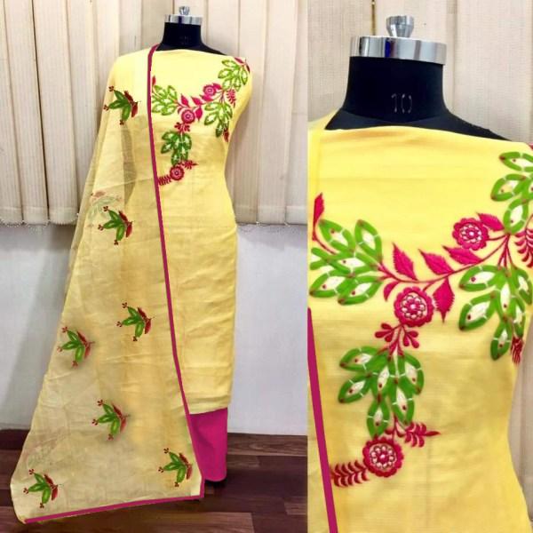pretty-yellow-color-heavy-modals-silk-festival-wear-dress-material